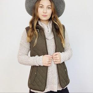 NWT Gallery Weekend Quilted Zip Vest